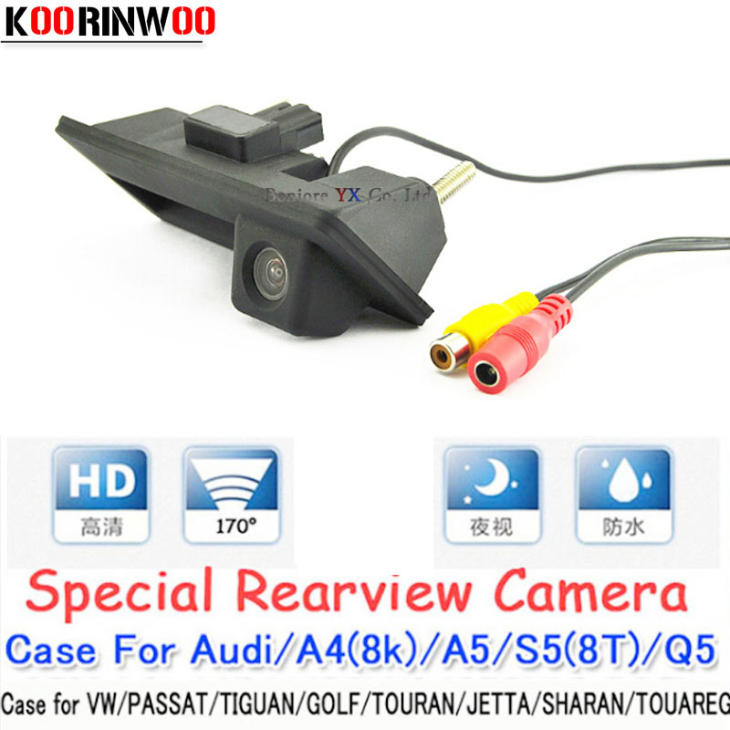 Trunk handle Night vision CCD HD Car Parking Rear View Camera Case for Audi VW Passat