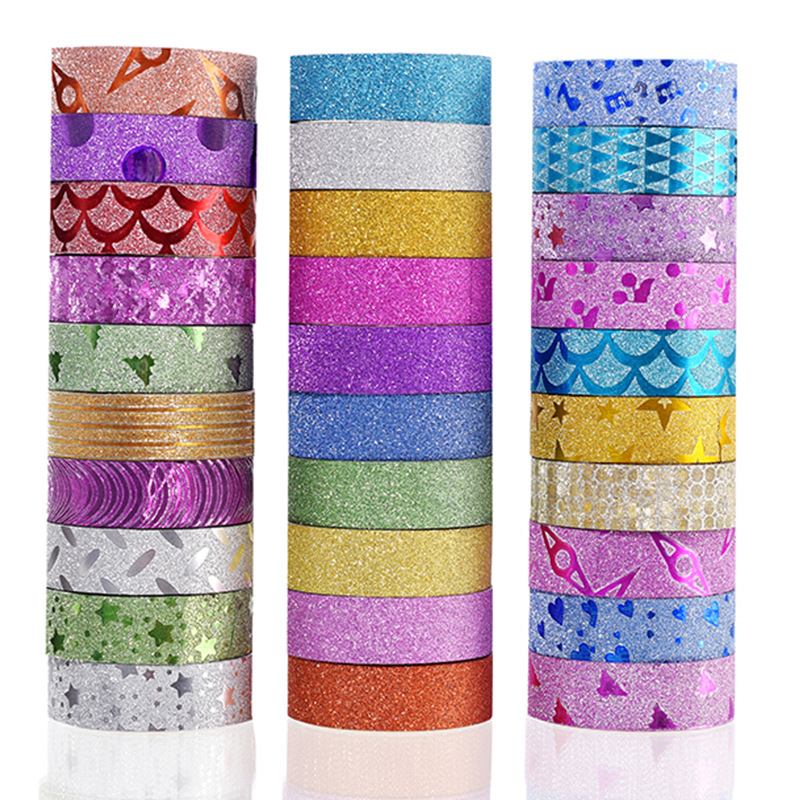(10 pieces/lot) Colorful Foil Washi Tape High Viscosity Adhesive Tape Fresh Designs Paper Tape For Scrapbooking 10 pieces lot sps hi14