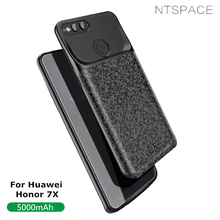 NTSPACE 5000mAh Back Clip Battery Charger Case For Huawei Honor 7X Ultra Thin Power Bank Cover