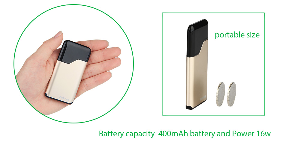 , Original Suorin Air Starter Kit 400mAh Battery & 2ml Suorin Air Cartridge E-cig Vape Kit Pod System vs Suorin Drop/ Pal 2/ Mico