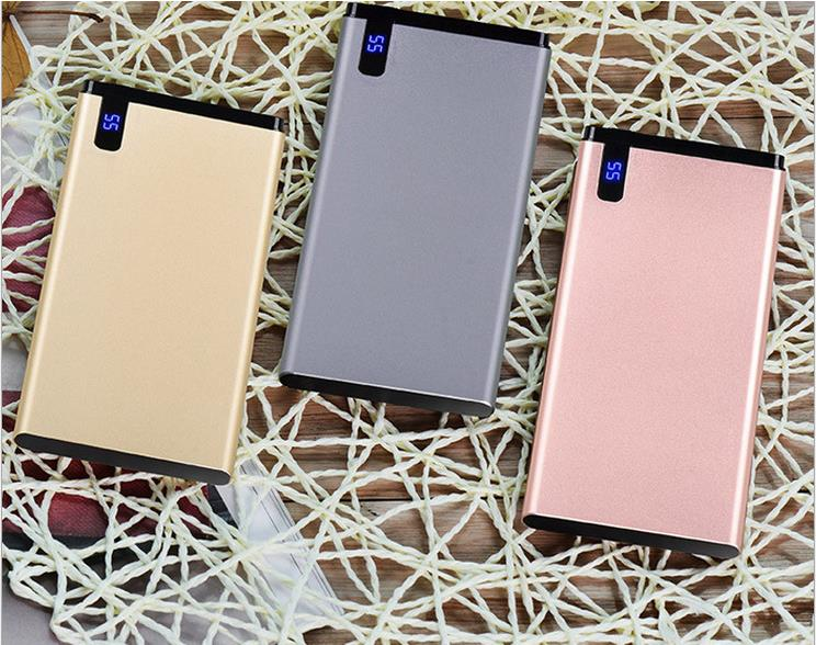 font b 2018 b font 10000mAh Ultra sim Mobile Power Bank with LED Charger for