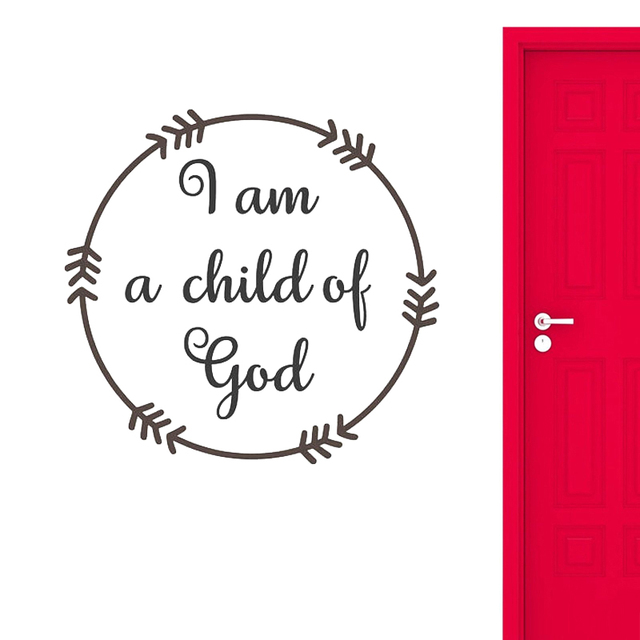 I Am A Child Of God Wall Decal Quotes Wall Sticker For Nursery Kids