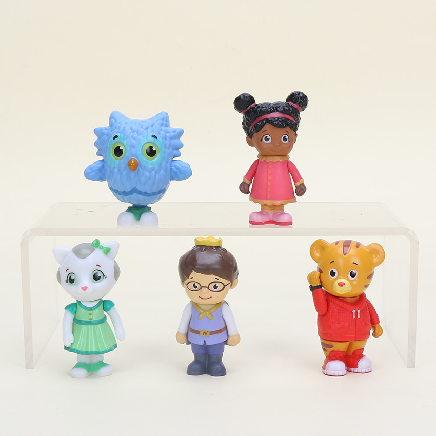 5pcsset Friends Figure Daniel Tiger Prince cat Model Toy
