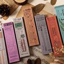 100 Uds hojas Retro boleto serie adhesivo Memo Pad viejo Bill Stub escribir Pad notas adhesivas marcador de la Oficina de la Escuela de papelería