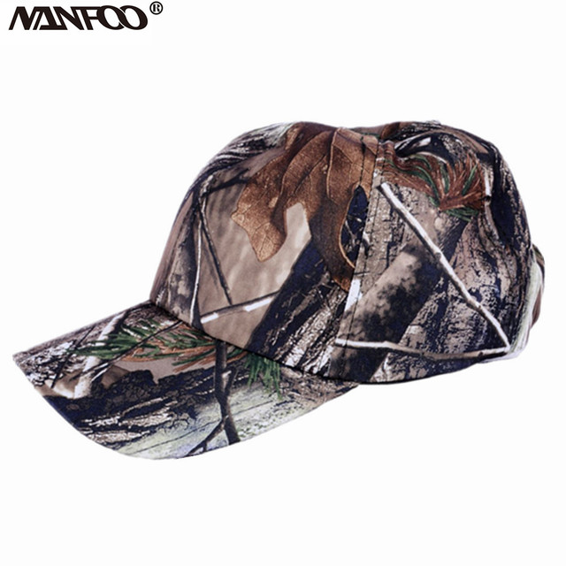 79b9fb495f5a7c Men Hunting Camouflage Cap Military Outdoor Camo Peaked Cap Sunshade  Breathable Casquette Lightweight Army Baseball Flat