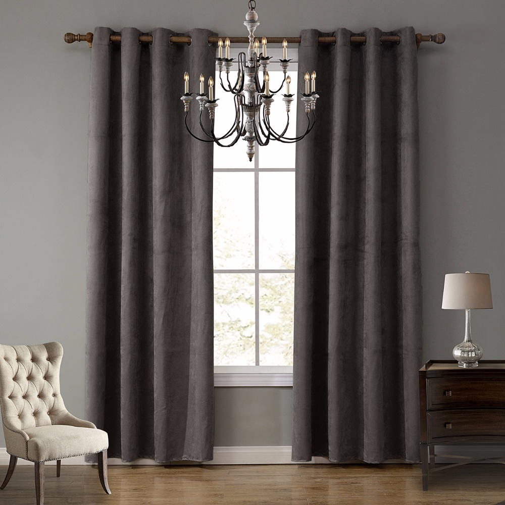 suede curtain fabric panel curtains for living room semi. Black Bedroom Furniture Sets. Home Design Ideas