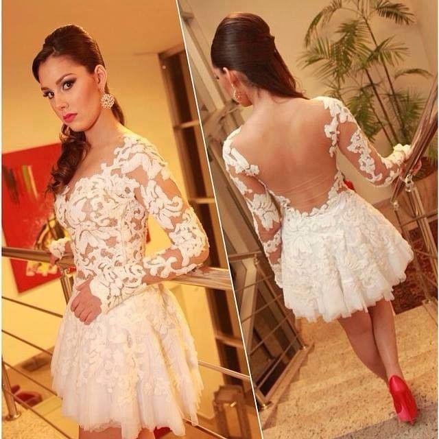 Online Get Cheap White Long Sleeve Cocktail Dress -Aliexpress.com ...