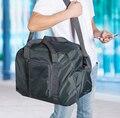Dobrável Hot Marca Designer sacos de Organizador de viagens bagagem Mulheres e homens À Prova D' Água de Alta capacidade Saco de Viagem Nylon bagagem de mão