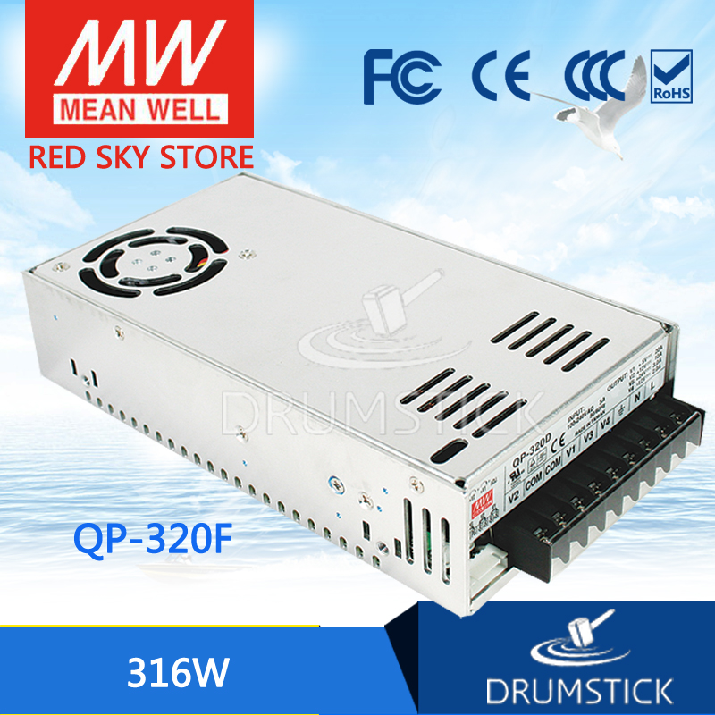 Genuine MEAN WELL QP-320F meanwell QP-320 316W Quad Output with PFC Function Power Supply leading products mean well sp 320 27 27v 11 7a meanwell sp 320 27v 315 9w single output with pfc function power supply