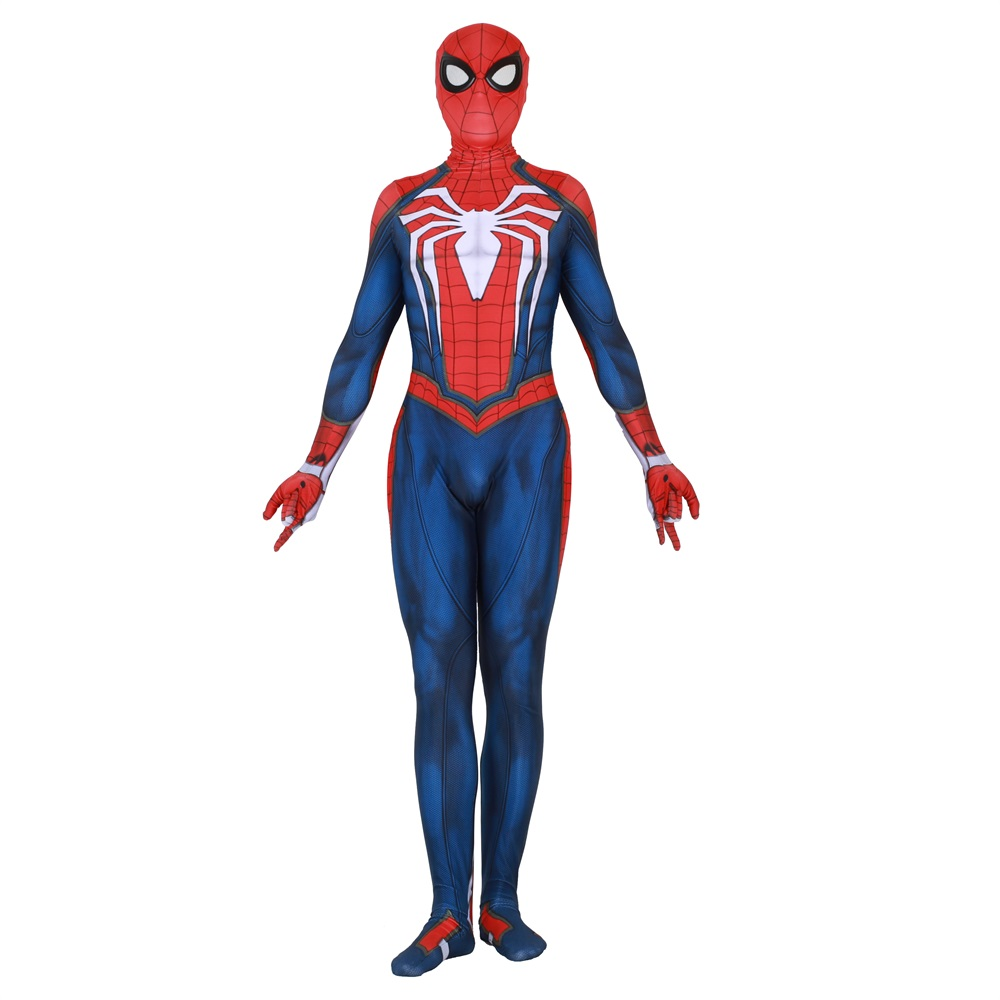 Ainiel ps4 Insomniac Games Spiderman Cosplay Costume Kids Adult Lycra Bodysuit Spider man Costume For Halloween