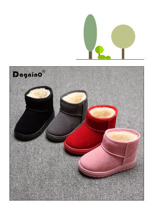 Bling Sequin Girls Boots Winter Shoes For Girls Pink Boots Children Warm  Rabbit Hair Snow Boots Kids Ugs Style Plus Size 21-37 461bf37c231c