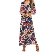 Yfashion Summer Fashion Elegant Bohemian Style Printing Beach Long Dress for Women Girl