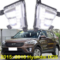 Car-styling,IX25 daytime light,2015~2017,chrome,LED,Free ship!2pcs,car-detector,IX25 fog light,car-covers,IX25,IX 25