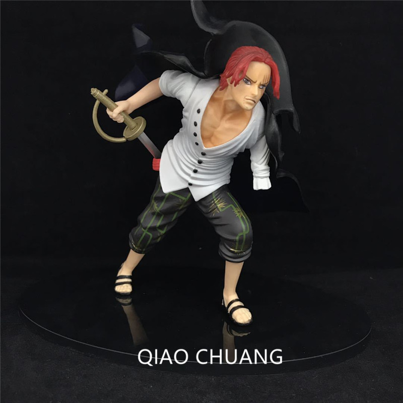 16CM PVC Japanese Anime Figure ONE PIECE Red Hair Shanks Swordsman Sabre Griffin Action Figure Collectible Model Toys G320