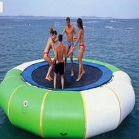water trampoline 3 M diameter 0.6mm PVC inflatable trampoline or inflatable bouncer water park used