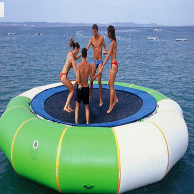water trampoline 3 M diameter 0.6mm PVC inflatable trampoline or inflatable bouncer water park used beentrill бермуды