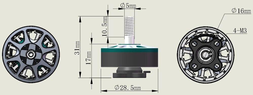 DYS SunFun 2306 2500 KV 3-4S Brushless Motor for Sale