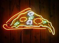 Venta Vidrio de Pizza personalizado señal de luz de neón barra de cerveza