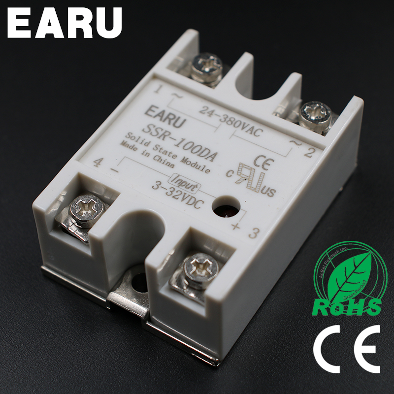 DC 3-32V Input AC 24-480V Output SSR 100A Solid State Relay SSR-100DA SSR-100 DA PID Temperature Controller Voltage Transformer ssr 80aa ac output solid state relays 90 280v ac to 24 480v ac single phase solid relay module rele 12v 80a ks1 80aa