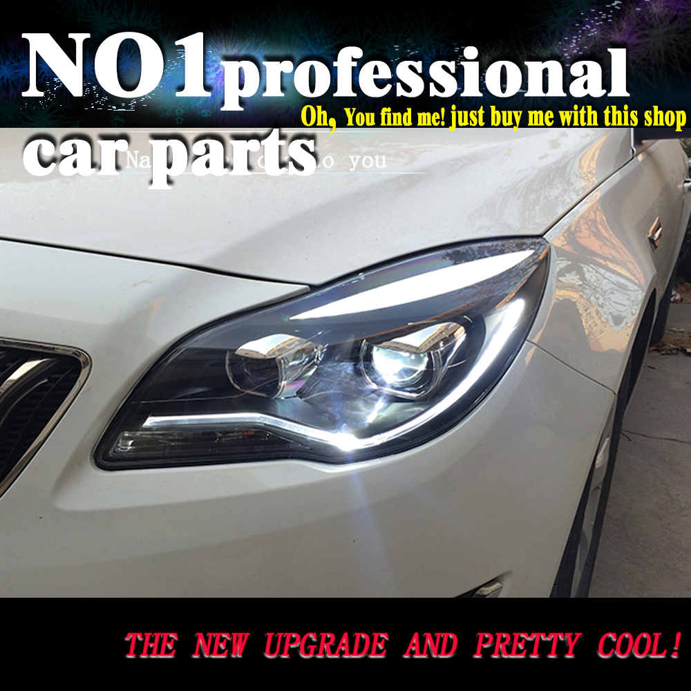 OUMIAO For BUICK 2014 2015 2016 Verano Regal Opel insignia LED Headlights DRL Bi Xenon Lens High Low Beam Parking front