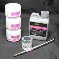 Generic Muiti-color Nail Art Kits 3 Colors Acrylic Powder/Acrylic Liquid Pen Dappen dish Tool set #46set