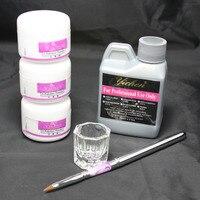 Free Shipping Nail Beauty Art Kit 46 Acrylic Liquid Powder Pen DIY Dappen Dish NO HB