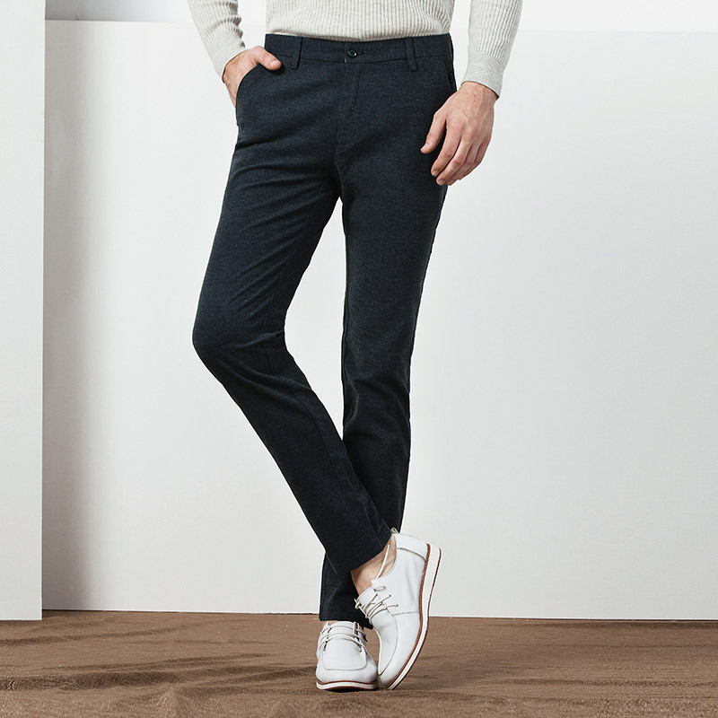 Noir Kegzeir Fit La Mode Hombre Taille Skinny Printemps Casual marron Coréenne Pantalon Plus kaki bleu Zipper Slim gris Hommes Hiver Pantalones rnxYqaw7r