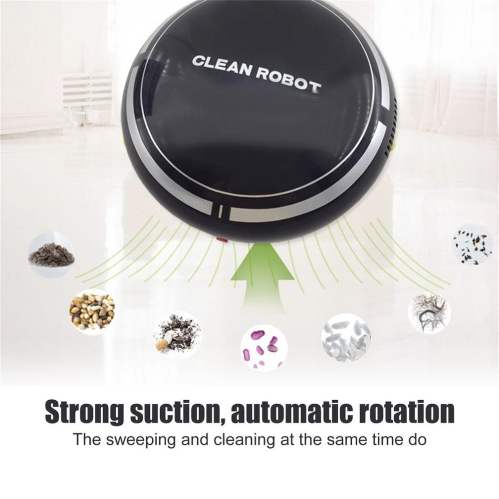 Rechargeable Smart Sweeping Robot Household Mini Cartoon Slim Sweep Suction Machine Small Mini Vacuum Cleaner Sweeping J3233C vbot t272 robot vacuum cleaner home household 500pa power suction sweep machine for pet hair with remote control and mop
