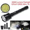 Высокое Качество XLightFire zaklamp 30000 Люмен фонарик 12x CREE XML T6 5 Режим 18650 Super Bright LED Flashlight