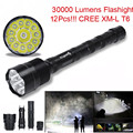 High Quality  XLightFire  zaklamp 30000 Lumens  flashlight  12x CREE XML T6 5 Mode 18650 Super Bright LED Flashlight