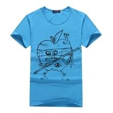 Apple Ninja Individual Print T-Shirt Men Funny apple Math Formula Printed Men's T-shirt New Fashion Fruit Geek T Shirts S21-B#