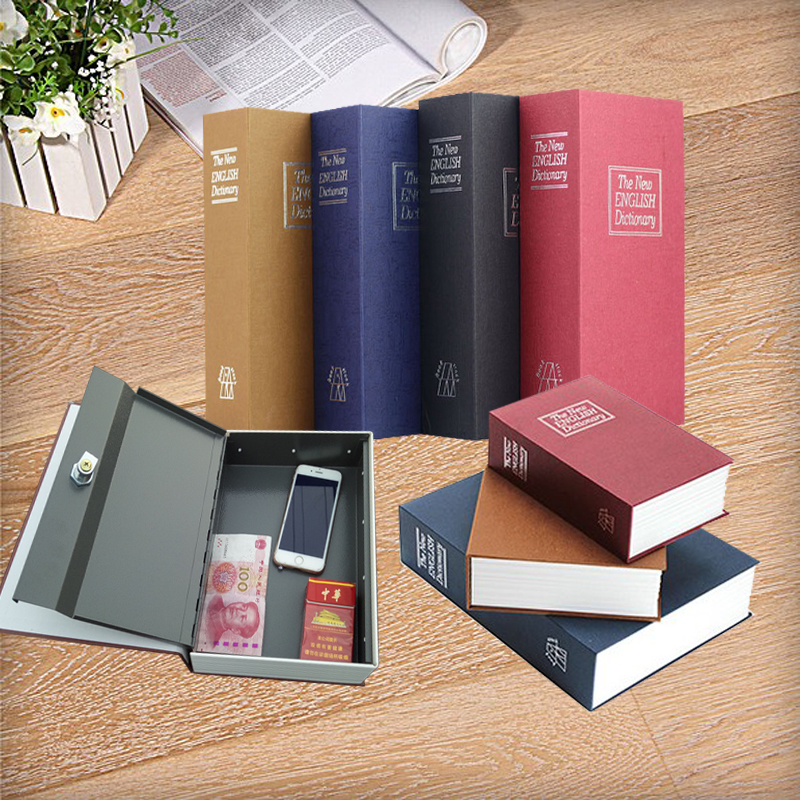 24*15.7*5.5CM Safe Box Security Secret Stash Key Box Lock Hidden Cash Money Safety Hide Storage Locker Safe Small Coin Safe Book