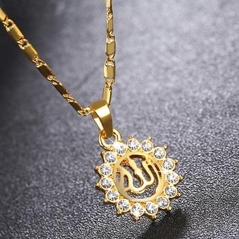 Pendentif collier Soleil Allah femmes
