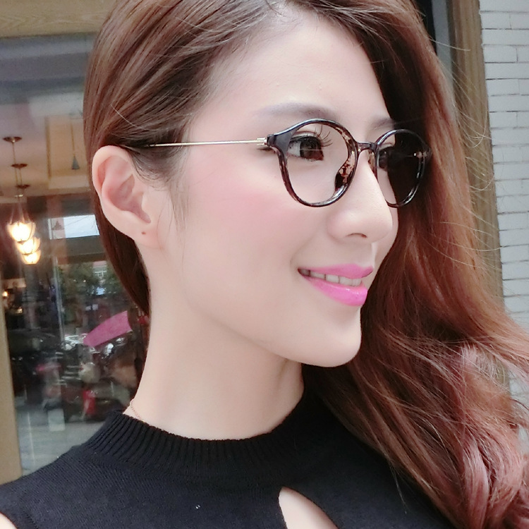 beauty brown floral glasses frame wholesale round plain glass spectacles of metal wire and slim retro glasses frame 9323 cheap in eyewear frames from
