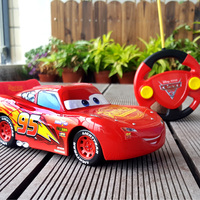 Disney New Lightning McQueen Jackson Storm Cruz Pixar RC Cars 3 Toys With Cool Remove Controller
