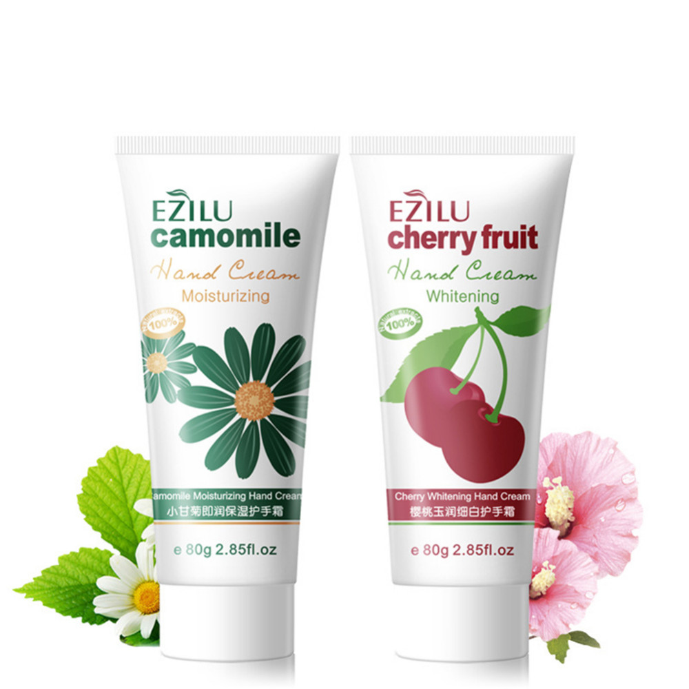 1pcs 80g Cherries Whitening Camomile Moisturizing Hand Creams Lotions Hydrating moist types the chamfer hand cream for Hand Care 5