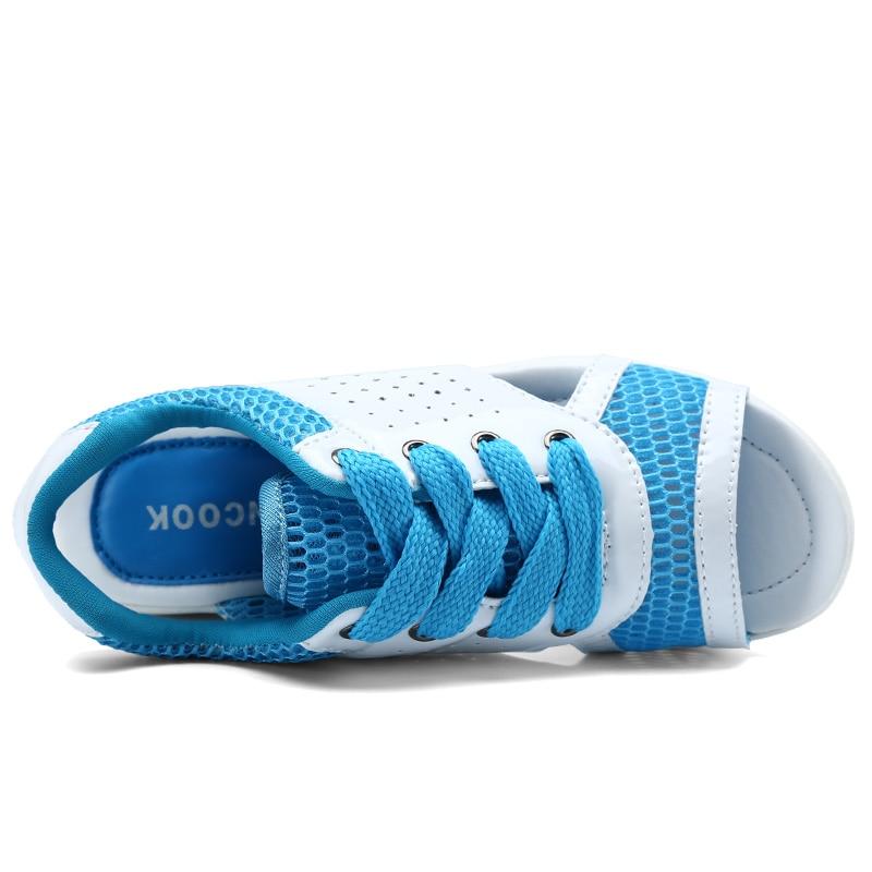 Women Shoes Summer Wedges Sandals Fashion Lady Tennis Open Toe Slimming Woman Casual Shoes Breathable Lace Platform Sandalias 6