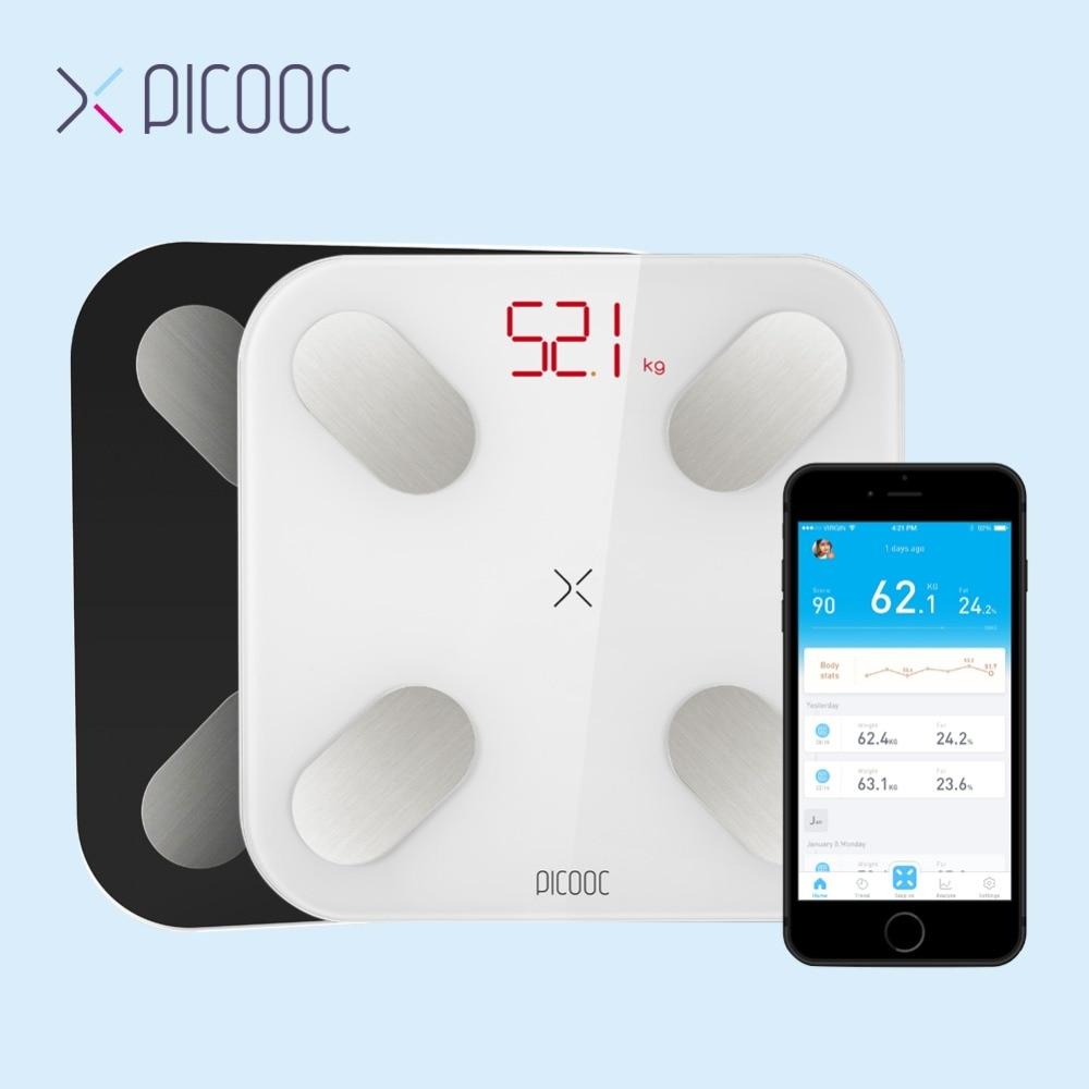 PICOOC mi Ванная комната весы пол цифровой жира весы Bluetooth электронные напольные mi ni смарт-весы с APP