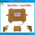 ¡ Venta caliente! CDMA 850 Mhz + PCS 1900 MHz de Doble Banda Amplificador de Señal de Teléfono Móvil, PCS CDMA Repetidor de la Señal, Amplificador de señal + Power