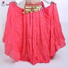 16 Colors  Gypsy Dance Full Circle Linen Skirt Tribal Belly Performance Women Skirts