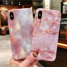 Pink Marble Silicon Phone Case For iPhone 7 8 Plus XS Max XR Full Protective Cases For iPhone X 8 7 6 6S Plus Soft TPU Cover наушники earbud plus pink marble