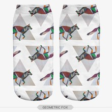 3D Print Cartoon Animal Style Men&Women's Slipper Socks Fashion Colorful Lovely Popular Summer Harajuku Boat Sock
