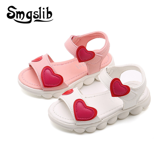 ff6b8b42b Girls Sandals Children Sandals 2019 Summer Baby Beach Toddler Pu Leather  Princess Party Dress Shoes Kids