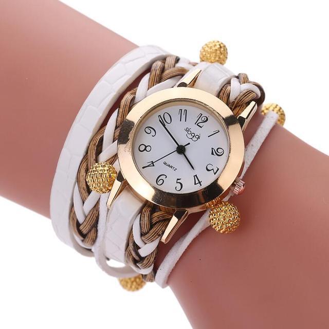 ca754bb915f74 MINHIN Women Casual Watch Top Brand Luxury Braided Bracelet Quartz  Wristwatch Ladies Vintage Watch Clock Relogio