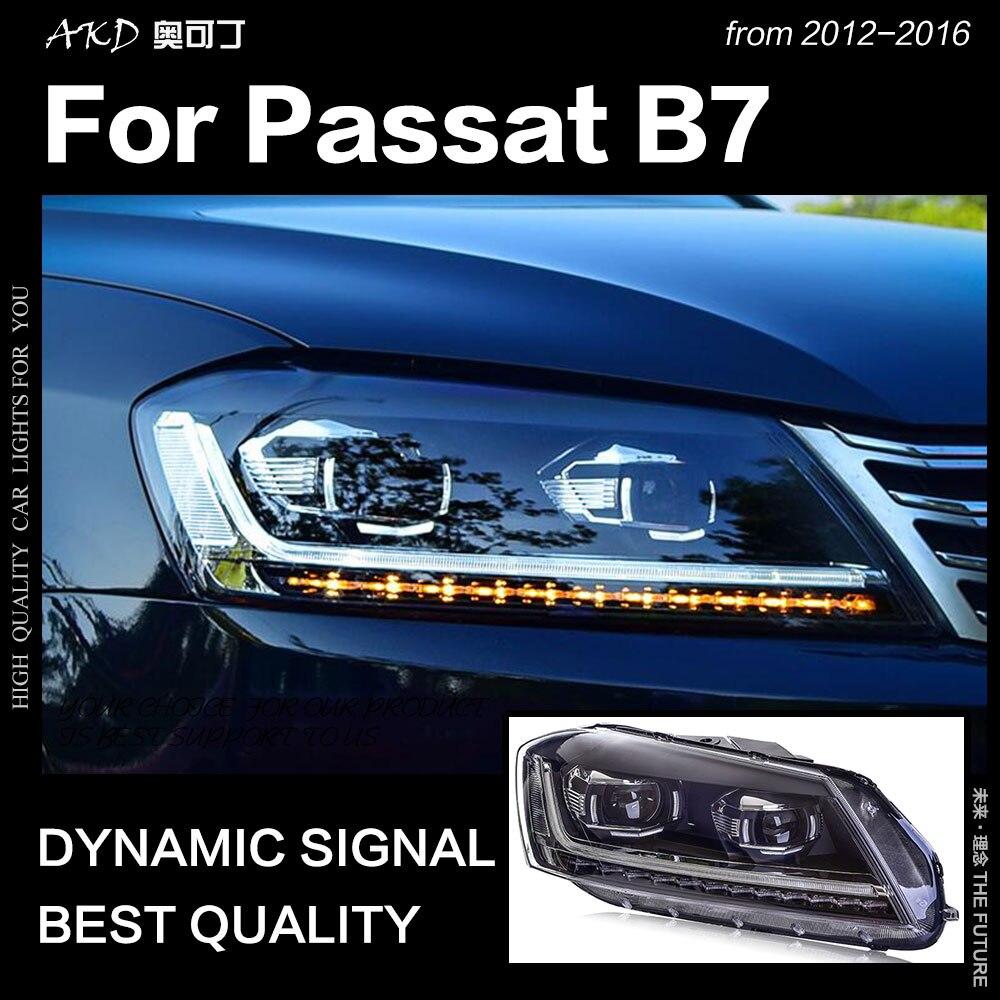 AKD Styling Auto per VW Passat B7 Fari 2012 Magotan LED DRL Del Faro Hid Testa Della Lampada Angelo Occhio Allo Xeno Bi fascio Accessori