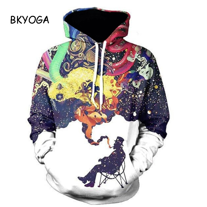 New Stylish Men/women 3d Sweatshirts Colorful Smoking in Winter Painted Autumn New Stylish Men/women 3d Sweatshirts Colorful Smoking in Winter Painted Autumn HTB1ZgS8OVXXXXclapXXq6xXFXXXO
