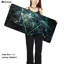 Mairuige Blue Space Free Shipping Large Black Lockedge Rubber Mousepad Speed Version Gaming keyboard Mousepads Table Cup Mat