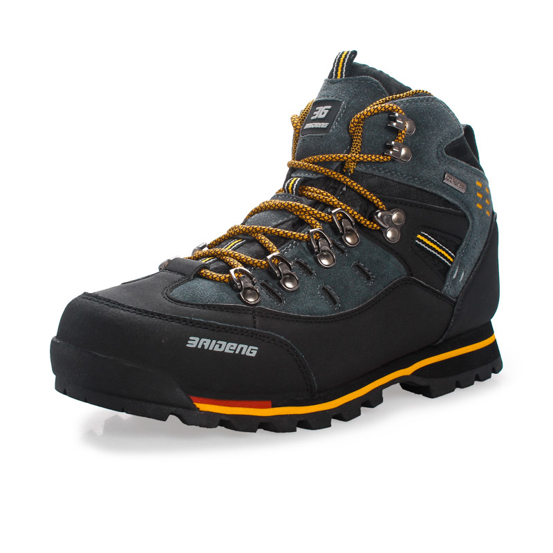 Men Hiking Shoes Waterproof Outdoor Sneakers Breathable Trekking Shoes Climbing Fishing Shoes Genuine Leather Hiking Boots пила циркулярная dewalt dewalt dwe561 185mm