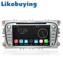 Likebuying Car 2 Din 1024*600 16G Android 4.4.4  QUAD CORE DVD GPS Radio Stereo Navigator for FORD  Focus  MONDEO