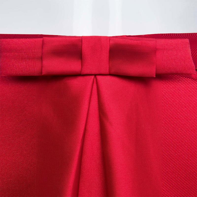 c7051249fabb Bhoartist New Elegant Skirt Women High Waist Red Solid Color Long Skirts  Girls Plain Party Skirts Ankle-Length Zipper Bowknot ...